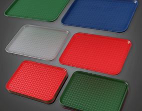 3D asset Fast Food Trays - SAM - PBR Game Ready
