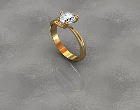 ring with interchangeable stone 3D print model