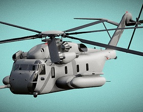 Helicopter Sikorsky CH 53 3D Model low-poly