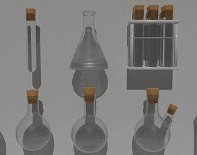 houseware PBR Labkit flasks 3D model