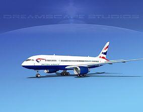 Boeing 787-8 British Airways 3D model
