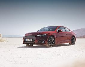 Modern luxury sedan unbranded 3D model