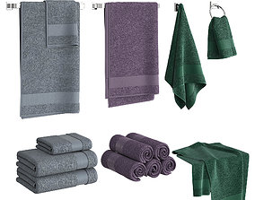 Color Towels Set 3D