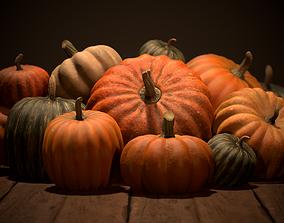 Pumpkins 3D asset low-poly