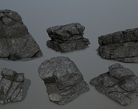 3D asset realtime rocks nature