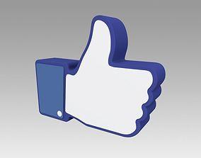 3D Facebook Like Sign