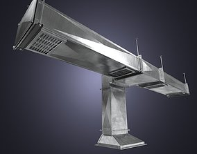 The square air ducts pack 3D model