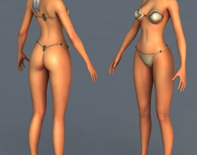 3D model beautiful Sexy girl
