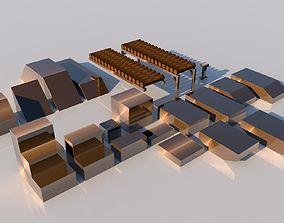 Pack of platforms 3D model