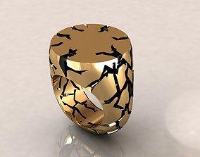 Crack Rock Ring 3D printable model