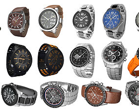 3D model 16 watches collection