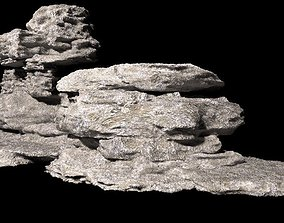 3D model low-poly BoulderStone