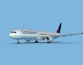 3D model Boeing 767-400 Continental