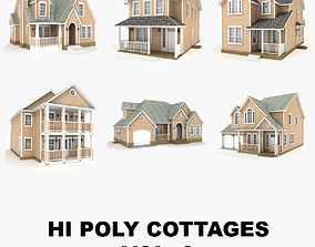 3D model Hi-poly cottages collection vol 9