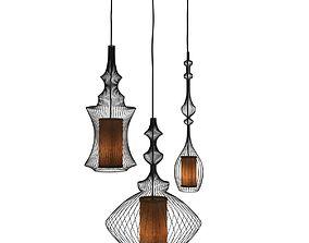 Emperor Opium and Tibet pendant lamps 3D model