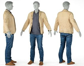 3D model Male Casual Outfit 41 Jacket Pants Shoes