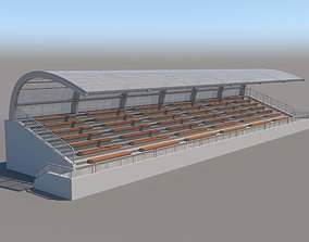 3D Tribune For Sport Areas With Canopy