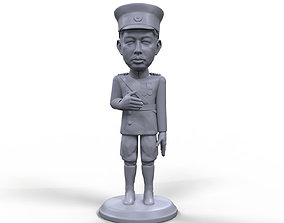 Emperor Hirohito stylized high quality 3D printable