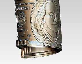 Dollar pendant 3D print model