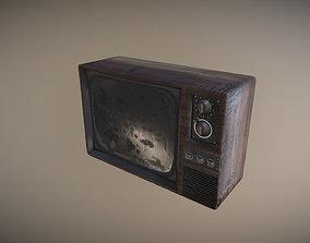 3D asset low-poly Old TV