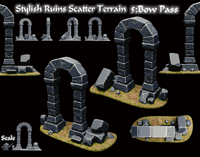 Stylized Ruins 3D Printable models Scatter