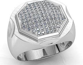 engagement-ring 3D print model Mens ring