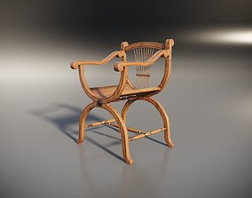 3D model Wooden Chair with original back cottage