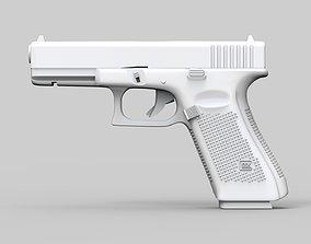 3D Pistol Glock 17 Gen 5 Low and High