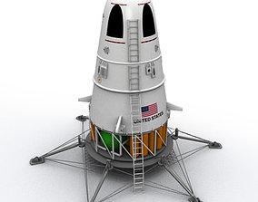 3D SciFi NASA Lander