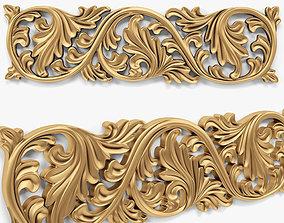 onlays 443 3D model wall