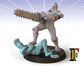 Human chainsaw 3D print model