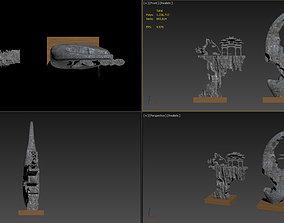 3DMAX model rockery pendulum
