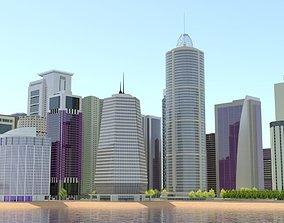 3D Modern Future HD City Big Cityscape Realistic