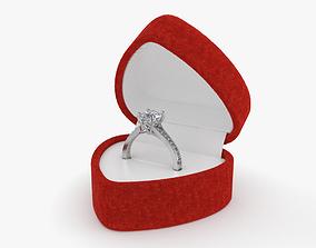 3D model Diamond Ring in Box