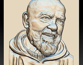 Padre Pio - relief - 2018 3D print model
