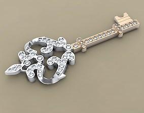 3D printable model Key pendent