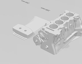 3D print model SR20 full block and oilpan for RC