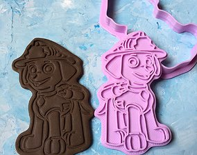 Paw Patrol Cookie Cutter Details Marshal 3D print model