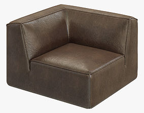 3D RH Modern Como Modular Corner Chair
