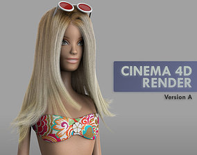 Doll Barbie 3D model
