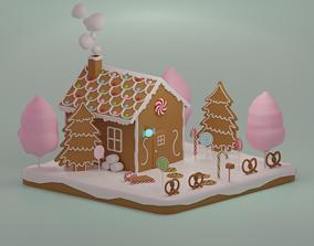 3D model realtime Gingerbread house