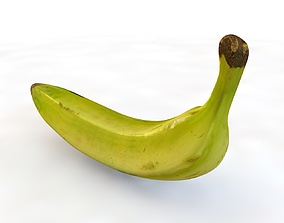 3D asset Plantain Yellow and Green