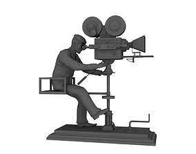director of photography cinematograph camera man 3d model