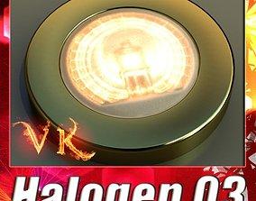 3D Halogen Lamp 03 Photoreal
