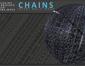 3D asset Chains Brush Set