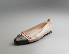 3D asset Women Ballerina Shoe
