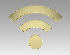 3D Wifi wireless internet logo
