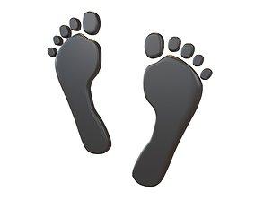 3D model Foot Prints v2 001