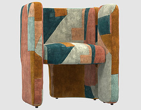 3D model FAIRFAX CHAIR apricot BY Kelly Wearstler