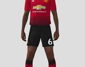 3D model Paul Pogba rigged